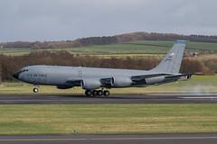 58-0046 KC-135T USAF Prestwick 04.03.19 (Robert Banks 1) Tags: 580046 80046 boeing k35r kc135t kc135 usaf united states air force prestwick egpk pik macdill 6 927 arw amw