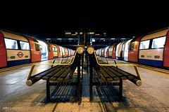 Symmetry at Finchley Central (Luke Agbaimoni (last rounds)) Tags: london londonunderground londontube train transportforlondon trains symmetry
