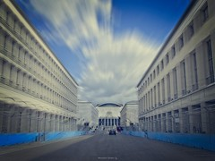 Formula E Grand Prix 2019 - Rome (Italy) (al.scuderi71) Tags: race rome racing formula e electric car roma italy italia panasonic gh4 on1pics zoom effect street strada eur building architecture architettura fence