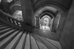 Suzzallo Library Stairwell (vtom61) Tags: universityofwashington stairwell suzzallo library sonya7riii voigtlander heliar10mmf56 seattle washingtonstate architecture