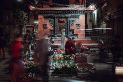 Night Market (danielhibell) Tags: kathmandu nepal travel asia discover explore world street streetphotography people religion culture ambience mood buddhism hinduism colour light praying moving special