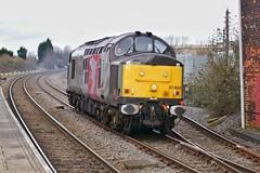 "Ptolemy's Big ""W"" (JohnGreyTurner) Tags: br rail uk railway train transport oakham rutland leicestershire 37 class37 tractor siphon syphon growler rog railoperationsgroup diesel engine locomotive"