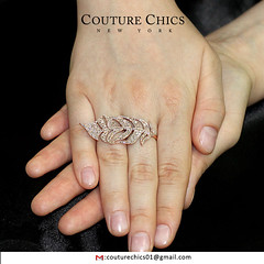 Natural 1.47 Ct Pave Diamond Leaf Shaped Ring Solid 18k Rose Gold Fine Jewelry (couturechics.facebook1) Tags: natural 147 ct pave diamond leaf shaped ring solid 18k rose gold fine jewelry