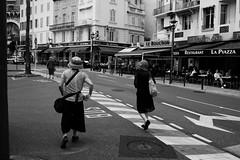 Two women in Cannes (gavweaver.com) Tags: cannes bw mono street women tourist