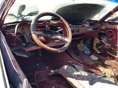 1977 Mercury Cougar interior (dave_7) Tags: 1977 mercury cougar classic car 70s junkyard scrapyard