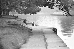 """Fishing River Ouse York (hoffman) Tags: york 1960s 1967 riverouse fishing leisure davidhoffman wwwhoffmanphotoscom davidhoffmanphotolibrary socialissues reportage stockphotos""""stock photostock photography"""" stockphotographs""""documentarywwwhoffmanphotoscom copyright"""