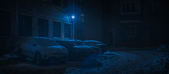 Behind the house.. (igor.relsov) Tags: shots cineminer nightphotography lamp car cars streets mystic cinematography street streetphotography night light cinematic cinema strange evening photography