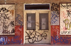 Condemned (TAZMPictures) Tags: neworleans jazz frenchquarter bourbonstreet graffiti