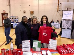 With Representatives Fiedler and Harris at  the health and wellness fair in Philly