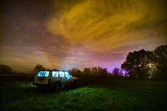 * The night stories * (Lotharn) Tags: night stories sky clouds frog jeep cherokee poland