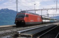 460 073  Immensee  26.04.13 (w. + h. brutzer) Tags: immensee eisenbahn eisenbahnen train trains schweiz switzerland railway elok eloks lokomotive locomotive zug 460 sbb webru analog nikon