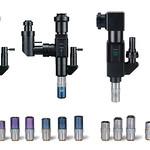 顕微鏡ユニット+対物レンズ群の写真