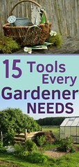 15 TOOLS EVERY GARDENER NEEDS. Gardening can be much easier when working with the right garden tools. Make your gardening work more relaxing with these 15 tools. Learn what each garden tool is for and how it can help. Enjoy! (CoolHomeStyling) Tags: home decor design styling interior