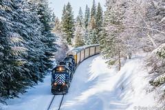 H SPOLAU at Hope, ID (evanlofback) Tags: railroadmrl 4thsub enginemrl mrl262 sd402 standardcab manifest hope sunny winter snow hspolau