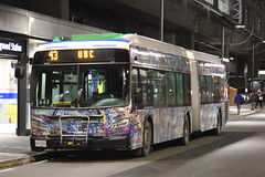 WrapidBus 18001 (timothy8610480) Tags: hybrid publictransportation artontransit art cag skytrain canada vancouver photography xde60 xcelsior newflyer night dslr bus canon
