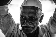 Dabbawallas - Mumbai (XV) (manuela.martin) Tags: blackandwhite bw schwarzundweis streetphotography india mumbai dabbawala