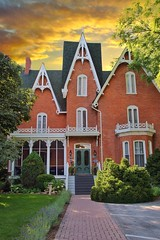 Picton Ontario - Canada - Merrill House - Inn - Hotel - Heritage Victorian (Onasill ~ Bill Badzo) Tags: sky clouds princeedwardcounty sunset sunrise picton on ontario canada merrill house inn hotel architecture style victorian restaurant main street heritage building 343 east historic onasill gables
