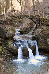 Schiessentümpel - Mullerthal - Luxembourg (roland_tempels) Tags: nature naturereserve water luxembourg supershot schiessentümpel mullerthal bridge waterfall river