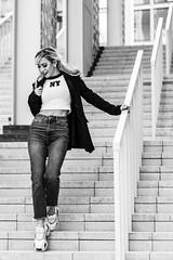 Andrea NB-6 (Willy_G91) Tags: vert andrea model fashion portrait girl woman pretty beautiful cute gorgeous sexy stunning outside outdoors nikon d610 photoshoot colour duba black white noir blanc noirblanc blackwhite bnw