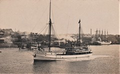 Australian government auxiliary ketch Sir John Forrest in Sydney Harbour, N.S.W. - early 1900s (Aussie~mobs) Tags: vessel boat ketch government sirjohnforrest australia vintage sydneyharbour balmain sydney newsouthwales afoster sailingship ferry