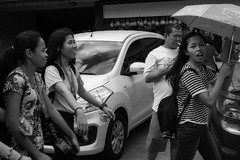 Students (Beegee49) Tags: street students man smoking filipina laughing luminar happy planet sony a6000 black white monochrome bw bacolod city philippines asia