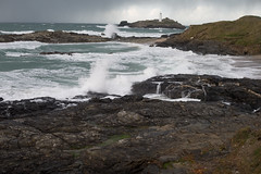 MRP_8709 (preedyphotos) Tags: cornwall godrevy north coast nt nationaltrust angysea sea foam storm waves lighthouse whitewater martinpreedy canon eos1dz