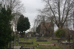 Avon View Cemetery (lazy south's travels) Tags: bristol uk england english britain british grave yard graveyard dead death resting place building architecture winter bare tree urban