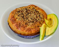 Cooked Fray Bentos Steak and Kidney Pie with avocado (garydlum) Tags: avocado beef hotpie kidney pie steak canberra australiancapitalterritory australia au