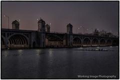 Hanover Bridge (Working Image Photography) Tags: daybreak river crew bridge morninglight baltimore fujifilm xt20 rowing city urban landscape patapscoriver cold maryland