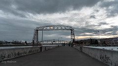 Canal Park (Lzzy Anderson) Tags: canalpark duluth canalparkduluth march spring 2019 minnesota lakesuperior lighthouse sunset clouds liftbridge aerialliftbridge