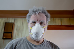 She said there's no such thing as too much flour. (Rick Drew - 23 million views!) Tags: sanding dust drywall mask dirty mess