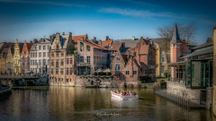 Ghent 2019 (EBoss Fotografie) Tags: gent ghent belgie belgium europe sky soe colors city water boat canal travel tourism building architecture house bridge canon luminar3 twop supershot