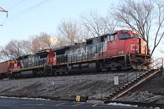 M337 on Christmas Eve Eve Eve (DonnieMarcos) Tags: berwyn berwynil railroad railway railfanning rail trains train freighttrain freight freighttrains c449w dash9 dash944cw c408 cn canadiannational m337 chicago freeport freeportsub
