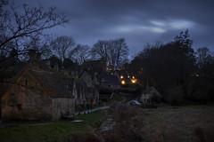 Bibury dusk (Roger.C) Tags: bibury gloucestershire glos cotswolds thecotswolds dusk dark evening beautiful cottages arlingtonrow trees nikon d610 50mm primelens country england historic daysout holiday blending cosy illuminated night