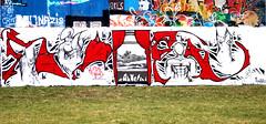 Oldenburg - ( Utkiek / street: Eidechsenstraße ) 612th picture / Graffiti, street art (tusuwe.groeber) Tags: projekt project lovelycity graffiti germany deutschland lowersaxony oldenburg city streetart niedersachsen farbig farben favorit colourful colour sony sonyphotographing nex7 bunt red rot art gebäude building gelb grün green yellow eidechsenstrase konzept concept wall wand utkiek halloffame landfill mülldeponie wandgestaltung