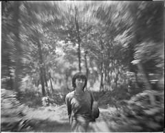 Bokeh Porno 1 (Attila Pasek (Albums!)) Tags: 8x10 rx portait lens vds bw noname film petzval analogue girl woman forest xray largeformat blackandwhite bokeh camera brass fujifilm vdscameramanufactory