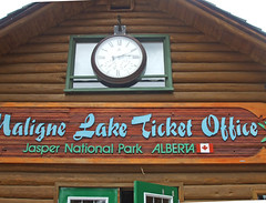 Trip on the Lake (matlacha) Tags: lakes mountains nature boats roadtrip travels vacation tourist animals bears pines jasper canada sign