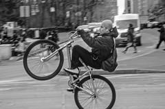 Let's go! (Capitancapitan) Tags: ride bike neury luciano black white manhattan central park columbus circle google fashion