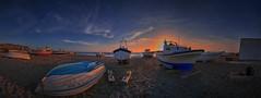 Barcas al atardecer. Panorámica. (ZAPIGATA) Tags: cabodegata almeria andalucia paisaje playa panoramica landscape beach barco cielo sky sunset zapigata