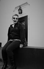 (Bart D. Frescura) Tags: mask masked maskedportrait halloweenmask latexmask blackandwhite blackwhite bw creepy creepycalifornia creepcity sistersantos elaine frescuraobscura digital maskbybdf