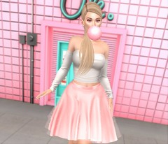 Blow Me (EnviouSLAY) Tags: opale lelutka erratic genus classic freya bento belleza equal10 equal 10 newreleases new releases pinkfuel pink fuel blonde blond skirt white gum bubblegum bubble pastel makeup gloss shadow eyeshadow monthlyevent monthlyfashion monthlyfair monthly fashion event fair pale female male gay lgbt blogger secondlife second life photography