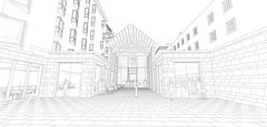 New College Pearse Street entrance, exhibition hall etc.