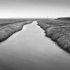 This Lovely Emptiness and Space (Bernd Walz) Tags: canal field landscape emptiness space contemplation rural countryside fog mist blackandwhite bnw bw monochrome fineart minimalism minimalistic transformedlandscape artificiallandscape longexposure