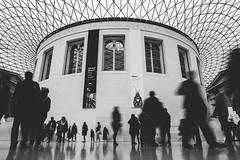 (J. Adams.) Tags: slowshutterspeed people blurry blur travel city london unitedkingdom uk atmospheric moody bw shadows light roof sky museum britishmuseum blackandwhite architecture building 2428 24mm wideanglelens wideangle 6dmk2 6dmkii 6dmark2 6dmarkii canon
