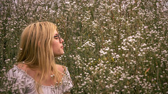 One with the nature (kisicekpatrik) Tags: girl teen nature flowers outside photography nikon camera green plant grass hair blonde adventure trip travel summer joy happy
