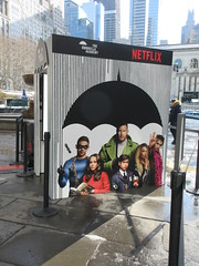 2019 Big Umbrella Academy in Bryant Park NYC 1321 (Brechtbug) Tags: big umbrella bryant park nyc 2019 february 02132019 new york city 6th avenue near 42nd st behind public library midtown manhattan the academy netflix tv series comic book based starting friday 15th bumbershoot umbrellas