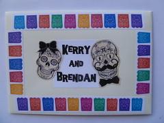 my DotD wedding card envelope (Peculiar Hand) Tags: dayofthedead wedding witta 2016 kerrybrendan richendabridge maleny qld australia