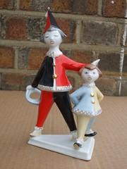 Vintage Hollohaza Communist Era Ceramic / Porcelain Clown Figurine Made in Hungary (beetle2001cybergreen) Tags: vintage hollohaza communist era ceramic porcelain clown figurine made hungary
