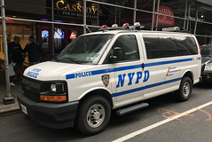 NYPD Property Clerk Division Chevy Express (NY's Finest Photography) Tags: highway patrol state nypd fdny ems police law enforcement ford dodge swat esu srg crc ctb rescue truck nyc new york mack tbta chevy impala ppv tahoe mounted unit service squad dcu windshield road