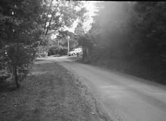 Summerlea Road (Matthew Paul Argall) Tags: belomoetude fixedfocus 120film 120 mediumformat road street summerlearoad ilfordhp5plus hp5 blackandwhite blackandwhitefilm